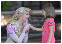 Disneys Magic Kingdom - Entertainment - Meet Rapunzel From Tangled
